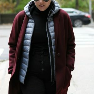Talbots full length wool coat